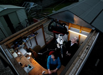 Dave and his wife Carol in their back garden observatory