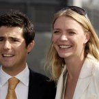 TV presenter Craig Doyle looks concerned that Jodie Kidd might have a better grin.