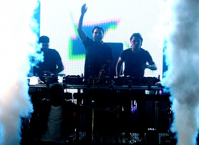 Swedish House Mafia perform in London in July. The band's gig in Dublin's Phoenix Park was marred by crowd disturbances, including nine stabbings.