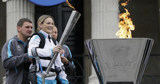 Paralympic cauldron lit in central London