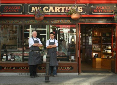 McCarthy's butcher, who will talk about pudding at the Theatre of Food 