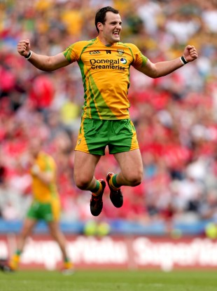 Donegal's Michael Murphy celebrates at the final whistle