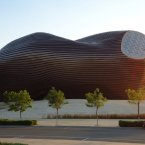 The Ordos Museum, designed by Chinese architecture firm MAD, is truly a work of art. It was completed in 2011 but reportedly is still empty. (Image: Chaloos/Flickr)