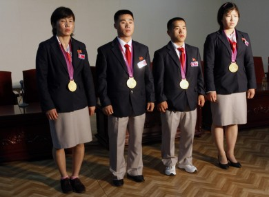 North Korea's London Olympics gold medalists.