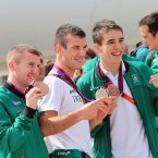 Paddy Barnes, John Joe Nevin and Michael Conlan.
