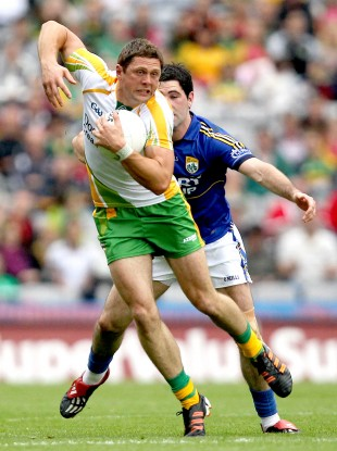 Donegal's Ryan Bradley in action against Kerry's Bryan Sheehan in last Sunday's All-Ireland SFC semi-final
