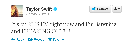 Taylor Swift tweet