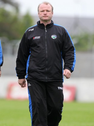 Teddy McCarthy while managing Laois during this year's championship.