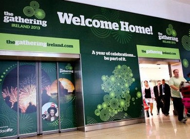 The arrival gates at Dublin Airport.