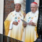 Pictured (L) Archbishop of Dublin Diarmuid Martin who was leading the mass today. Photo: Sam Boal/Photocall Ireland