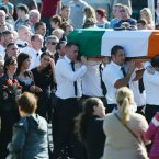 Pictured are Family members and friends at the funeral Photo: Eamonn Farrell/Photocall Ireland