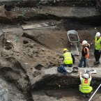 Closer inspection by archaeologists in May 2011. Image:Leon Farrell/Photocall Ireland.