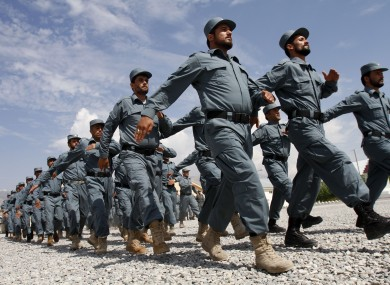 File photo of Afghan national police officers 