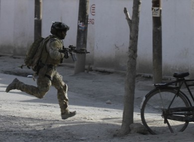 A Nato soldier in Kabul, file photo.