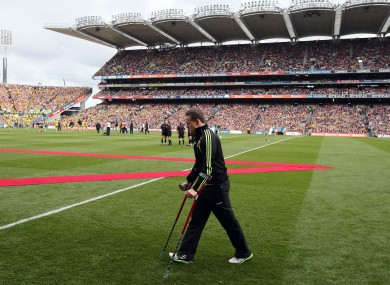 Mayo's Andy Moran before the start of Sunday's final.