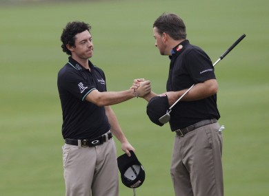 McIlroy and McDowell will play Jim Furyk and Brandt Snedeker.