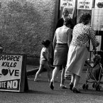 Polling day in Ballymun in June 1986. Image: Photocall Ireland.