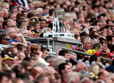 General view of the Liam McCarthy Cup.