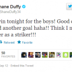 Good clean fun with Shane Duffy.