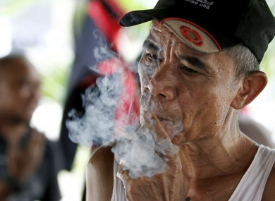 Two-thirds of men over 15 smoke in Indonesia - though the equivalent figure for women is a mere 3 per cent.