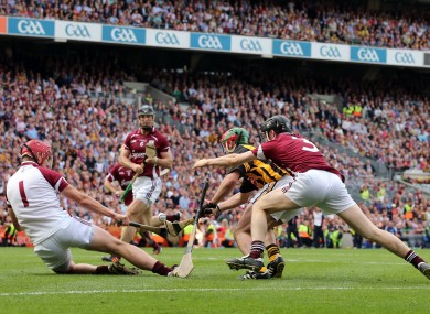 James Skehill in action in Croke Park yesterday.
