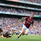 Joe Canning celebrates scores the opening goal.