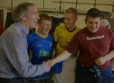 John Lonergan with some of the young people he met in Moyross who had been excluded from or dropped out of education.