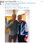 There is a striking resemblance between British sprinter Iwan Thomas and Paralympic gold medallist Jonnie Peacock.