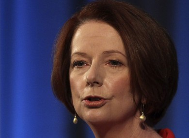 Prime minister Julia Gillard gave Australian government MPs a free vote on the matter of gay marriage.