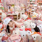Asako Kanda'€™s (Japan) collection of 4,519 different Hello Kitty items is featured in the new Guinness World Records 2013 book out now. Her house is filled with Hello Kitty items, such as Hello Kitty frying pan, Hello Kitty electric fan and Hello Kitty toilet seat!