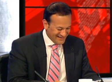 Leo Varadkar on Tonight with Vincent Browne last night.