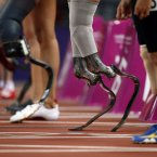 during the athletics competition at the 2012 Paralympics in London.  (AP Photo/Matt Dunham)