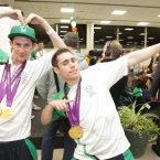 Irish gold medal winners Michael McKillop and Jason Smyth return from the Paralympics. 