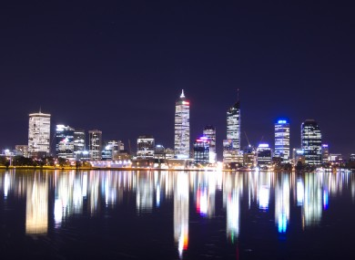 Perth at night.