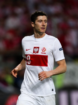 Poland striker Robert Lewandowski. 