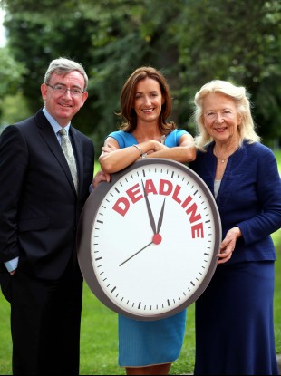 Dean of UCD Michael Smurfit Business School, Prof Ciarán Ó hÓgartaigh; chair of judging panel, Margaret Downes; Aisling Dodgson of platinum awards sponsor Investec Bank.