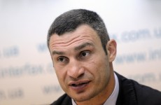 Charr protest leaves Klitschko bewildered