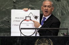 Video: Israeli PM uses 'bomb' diagram to warn of Iran nuclear threat