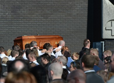 The funeral of Alan Ryan