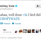 This tweet got Ashley Cole in a spot of bother earlier in the week.