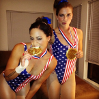 As fellow US Olympian McKayla Maroney.
