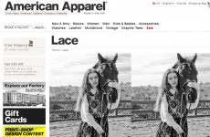 American Apparel thinks this bodiless horse will sell fanciful dressess