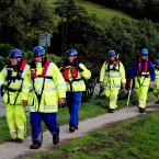 Rescue team search for missing girl April Jones near Machynlleth. Image: Rui Vieira/PA Wire