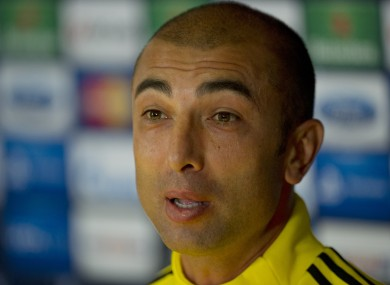 Chelsea's manager Roberto Di Matteo, during a news conference at Stamford Bridge.