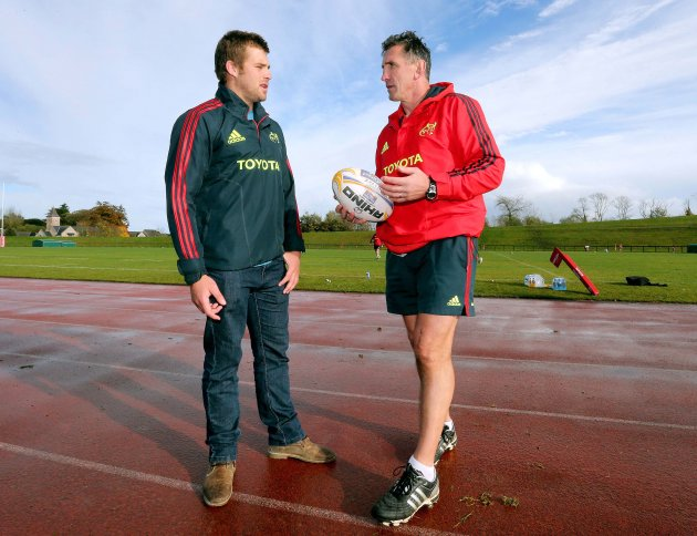 CJ Stander with Rob Penny 31/10/2012