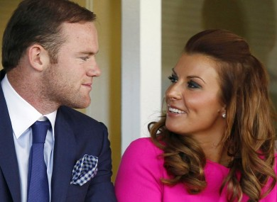 Wayne Rooney and his wife Coleen who are