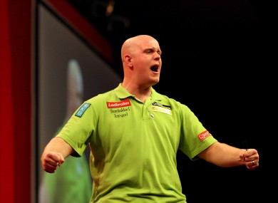 Van Gerwen (file photo).