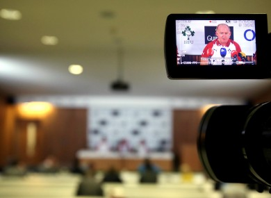 Ireland head coach Declan Kidney at today's squad announcement.