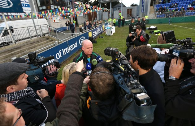 Declan Kidney speaks to the media 30/10/2012