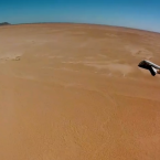 The jet slams into the Mexican desert going 140mph.